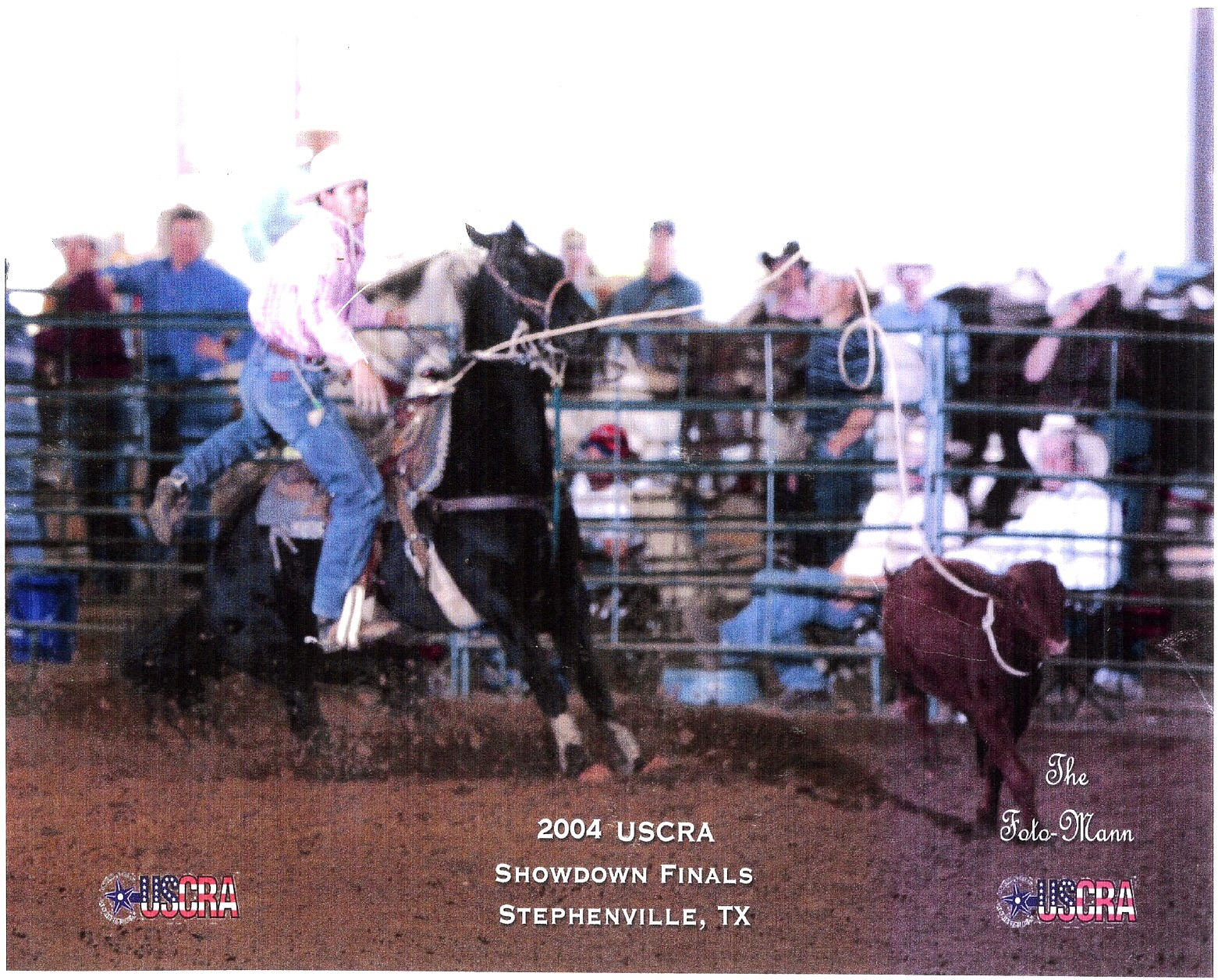 Darnell Johnson roping on a son of SKIPS FOLS.