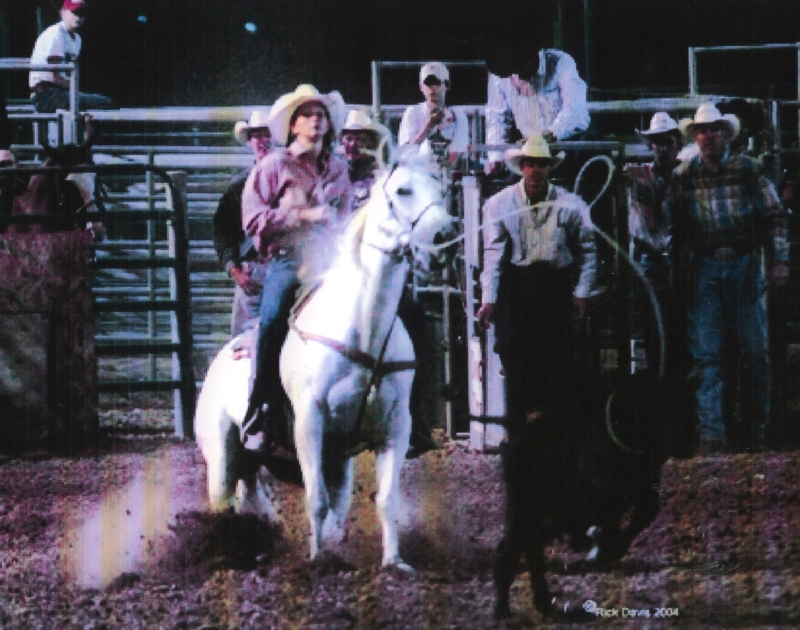 Erin Homm of Pueblo Colorado was the 2005 state breakaway champion in Wyoming, Colorado and New Mexico.  Was again state champion in Wyoming and Colorado in 2006.  The last two years Erin has bred her mare at Petersen Quarter Horses.  She appreciates good horses.